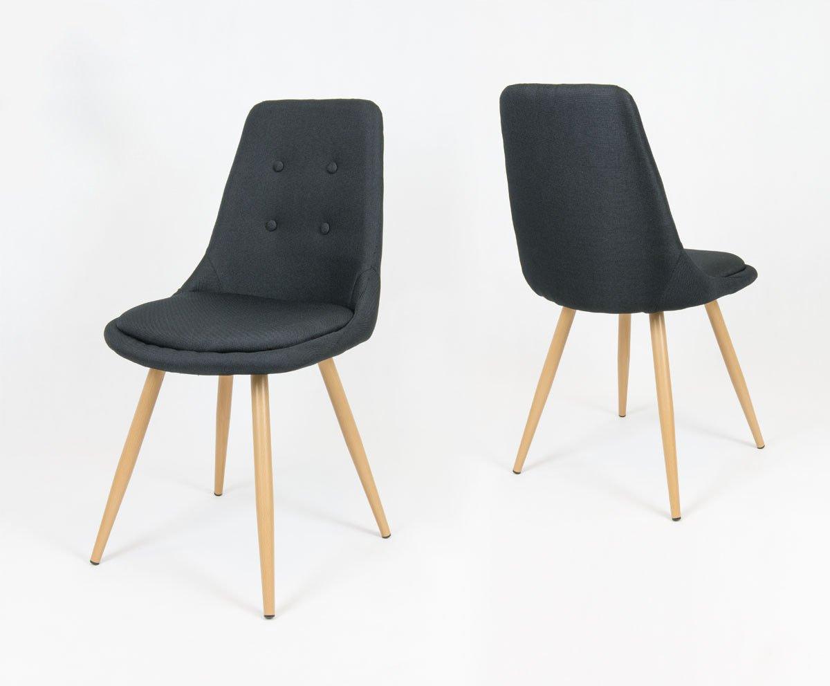 Sk design kr051 schwarz stuhl mit kissen schwarz angebot for Design stuhl hersteller