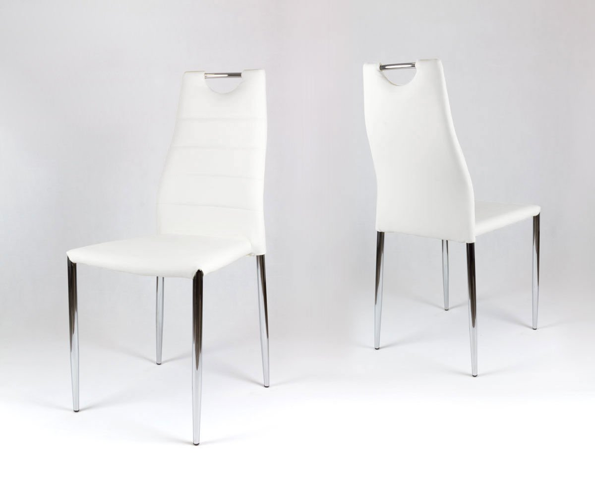 sk design ks005 weiss kunsleder stuhl mit chromgestell weiss angebot st hle farbe weiss. Black Bedroom Furniture Sets. Home Design Ideas