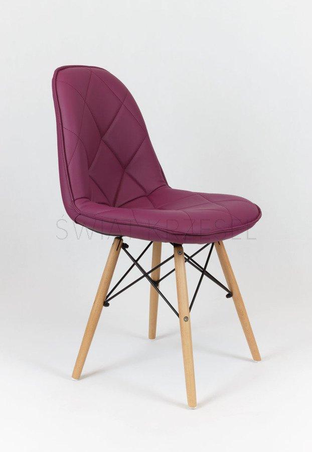 sk design ks007 violett kunsleder stuhl mit holzbeine lila. Black Bedroom Furniture Sets. Home Design Ideas