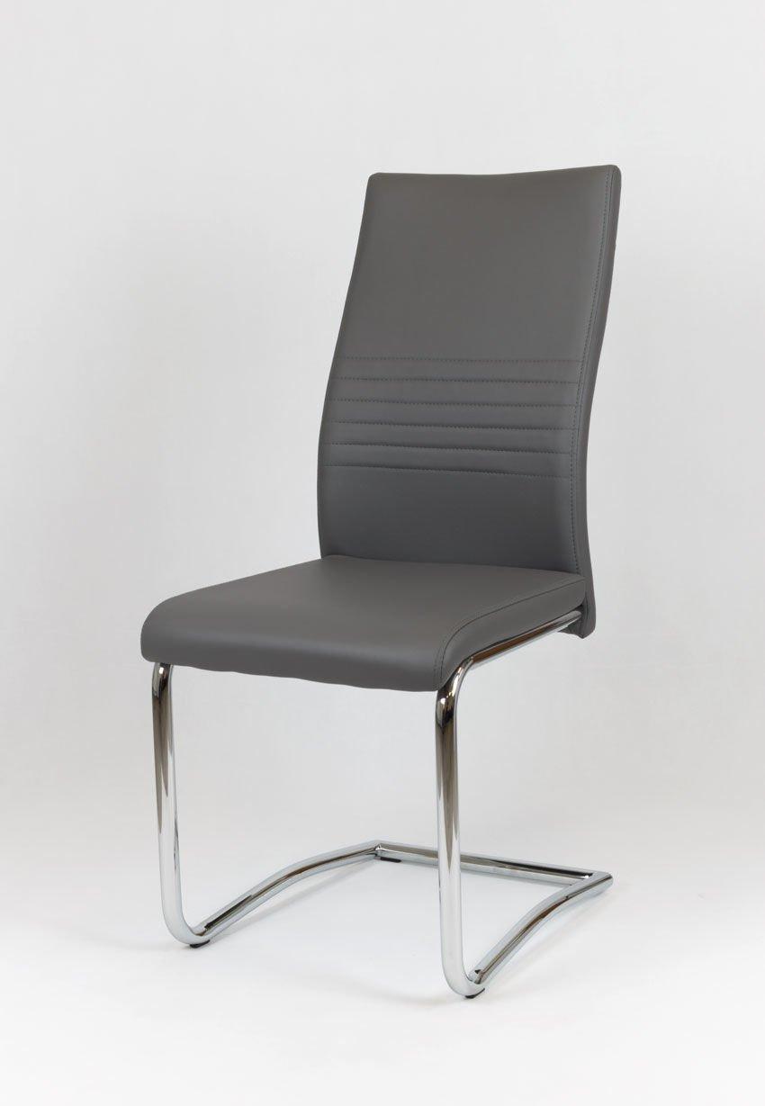 sk design ks020 grau kunsleder stuhl mit chromgestell grau angebot st hle farbe grau. Black Bedroom Furniture Sets. Home Design Ideas