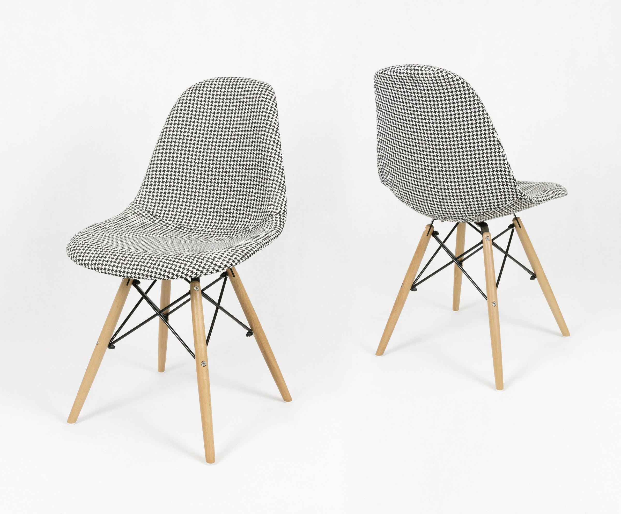 Oryginał SK Design KR012 Tapicerowane Krzesło Pepitka Buk PEPITKA \ Drewno NQ45