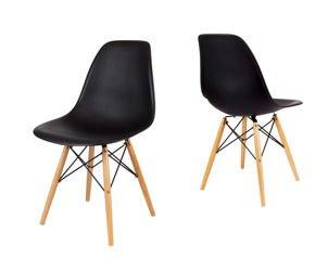 SK Design KR012 Black Chair Beech