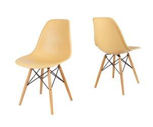 SK Design KR012 Sand Beige Chair, Beech legs