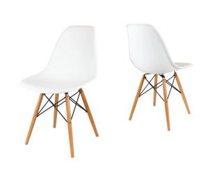 SK Design KR012 White Chair Beech