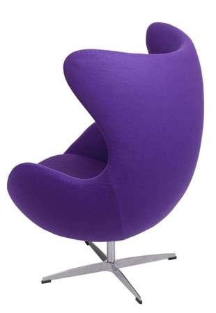 Armchair Egg purple cashmere 4 Premium