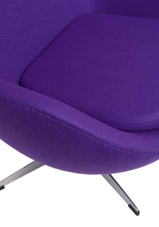 Armchair Egg purple cashmere 4 Premium