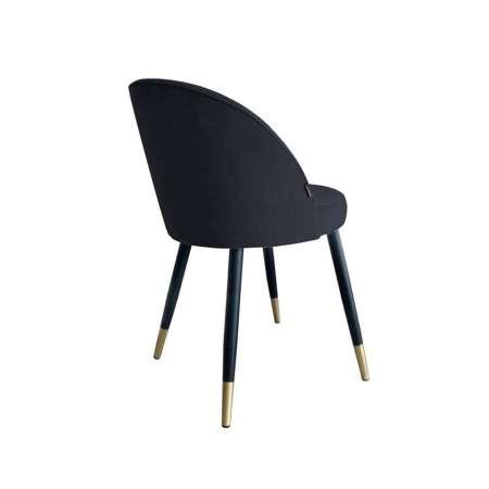 Black upholstered CENTAUR chair material MG-19 with golden leg