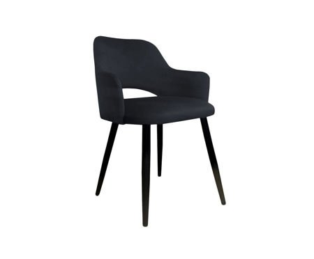 Black upholstered STAR chair material MG-19