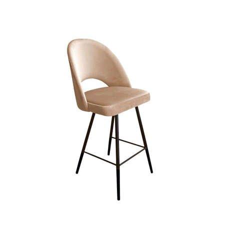 Bright brown upholstered LUNA hoker material MG-06