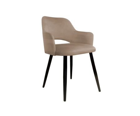 Bright brown upholstered STAR chair material MG-06
