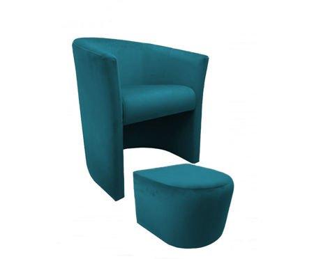 CAMPARI armchair with footrest Magic Velvet 20