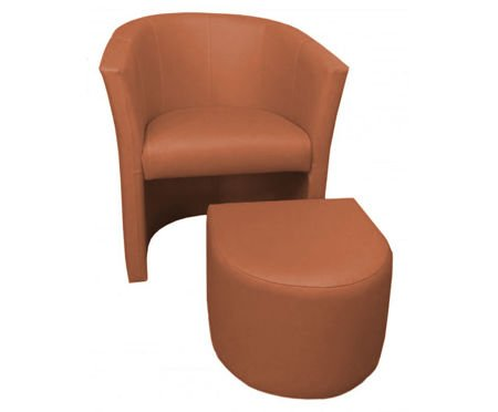 Calvados CAMPARI armchair with footrest