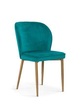 Chair AINE sea / foot oak / BL85