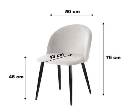 Chair KALIPSO petrol material MG-20