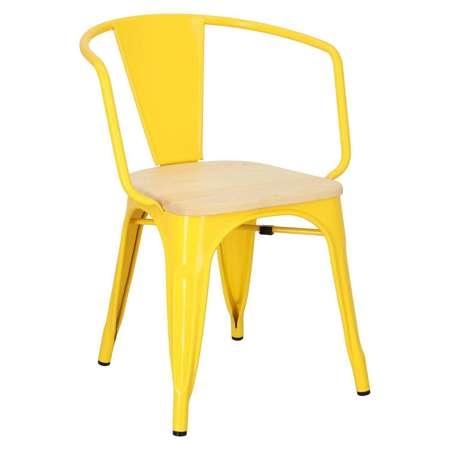 Chair Paris Arms Wood yellow natural pine