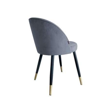 Dark gray upholstered CENTAUR chair material BL-14 with golden leg