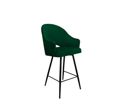 Dark green upholstered armchair DIUNA armchair material MG-25