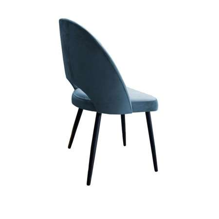 Gray-blue upholstered LUNA chair material BL-06