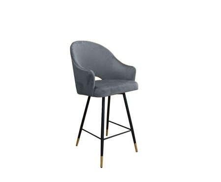 Gray upholstered armchair DIUNA armchair material BL-14 with golden leg