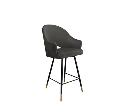 Gray upholstered armchair DIUNA armchair material MG-17 with golden leg