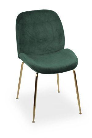JOY velvet chair green / gold leg