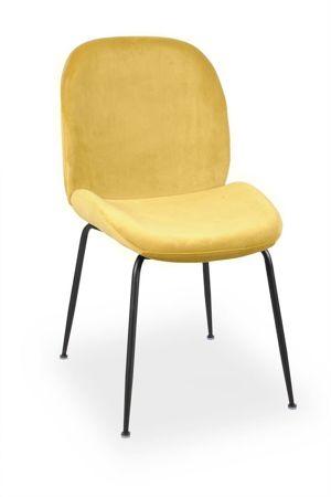 JOY velvet honey chair / black leg