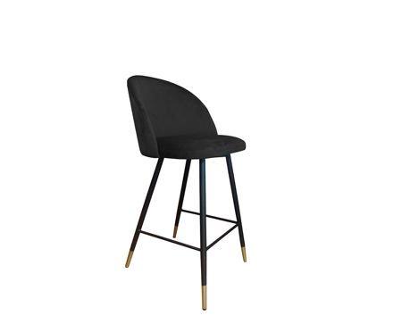KALIPSO black stool MG-19 with golden leg