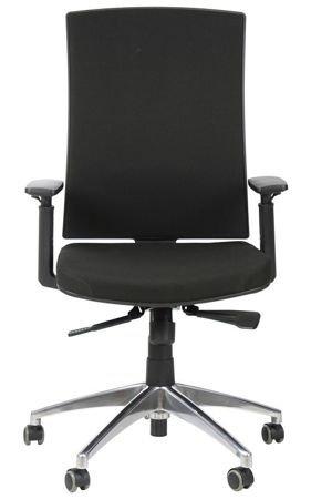 Krzesło Fotel obrotowy Korfu - czarny aluminium