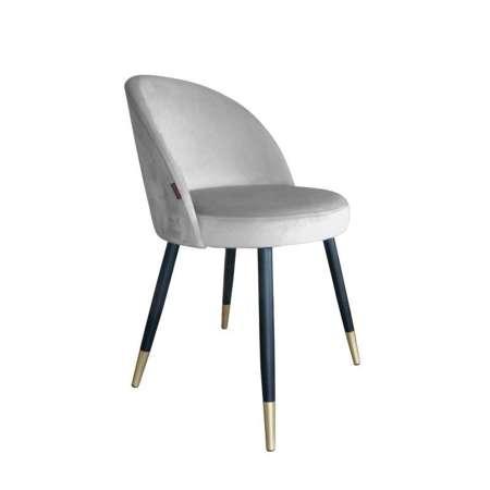 Light gray upholstered CENTAUR chair material MG-39 with golden leg