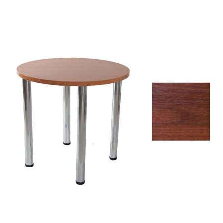 Lucio table 02 Walnut Ø 68 cm