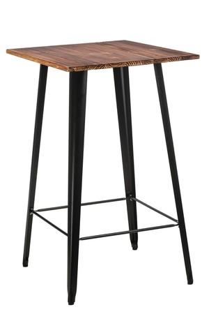 Paris Wood Bar Table black pine