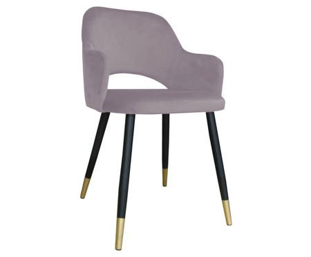 Pink upholstered STAR chair material MG-55 with golden leg