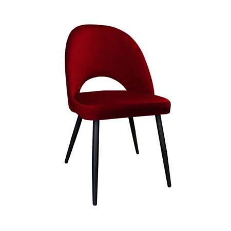 Red upholstered LUNA chair material MG-31