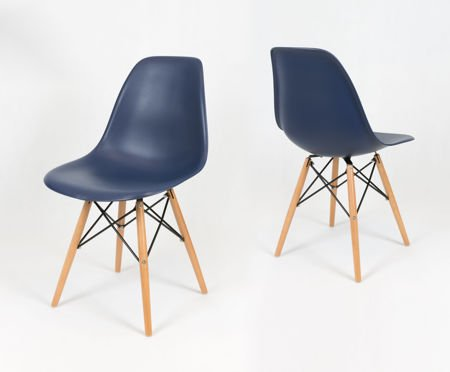 SK Design KR012 Dark Blue Chair Beech