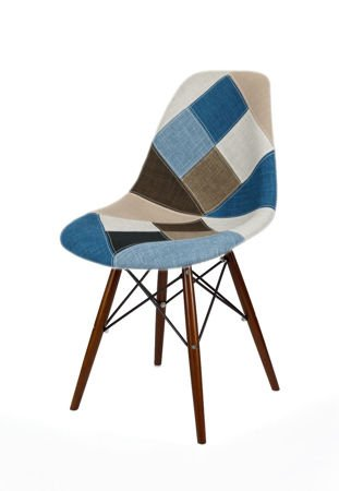 SK DESIGN KR012 TAPICERATED CHAIR PATCHWORK 6 WENGE