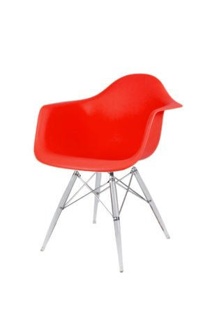 SK DESIGN KR012F RED ARMCHAIR CLEAR
