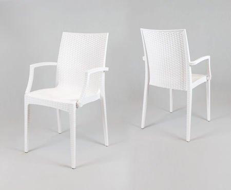 SK DESIGN KR038 WHITE POLYPROPYLENE CHAIR