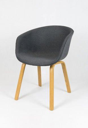 SK DESIGN KR049 GREY CHAIR + CUSHION SEAT