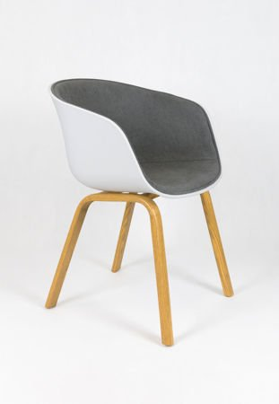 SK DESIGN KR049 LIGHTGREY CHAIR + CUSHION SEAT