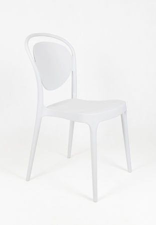 SK DESIGN KR055 WHITE POLYPROPYLENE CHAIR