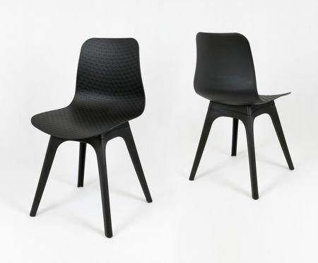 SK DESIGN KR061 BLACK POLYPROPYLENE CHAIR