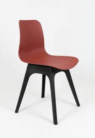 SK DESIGN KR061 BROWN RED POLYPROPYLENE CHAIR