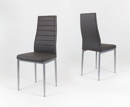 SK Design KS001 Dark Grey Synthetic Leather Chairon a Painted Frame
