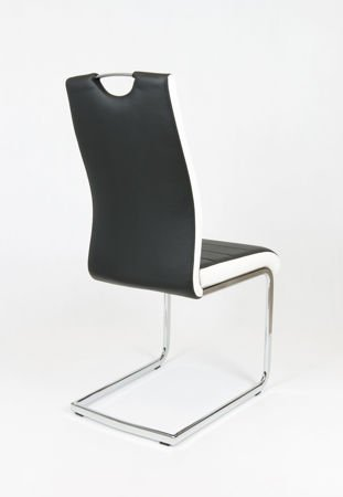 SK DESIGN KS037 BLACK SYNTHETIC LETHER CHAIR WITH CHROME