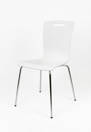 SK DESIGN SKD002 CHAIR WHITE WOOD
