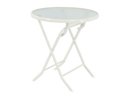 SK DESIGN ST08 WHITE TABLE Ø 70 cm, GLASS