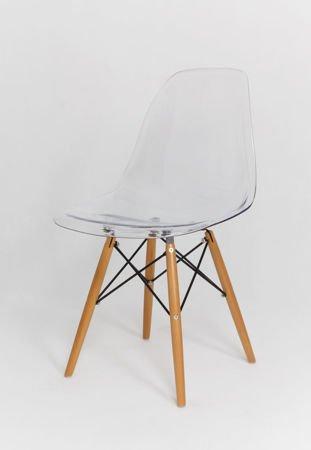 SK Design KR012 Clear Chair, Beech legs