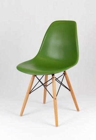 SK Design KR012 Dark Green Chair Beech