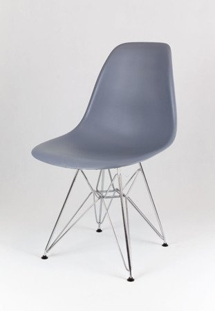 SK Design KR012 Dark Grey Chair Chrome