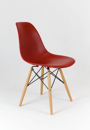 SK Design KR012 Dark Orange Chair Beech